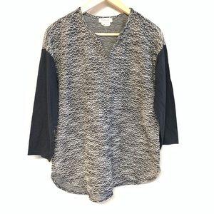 Van Heusen metallic three black knit sweater top